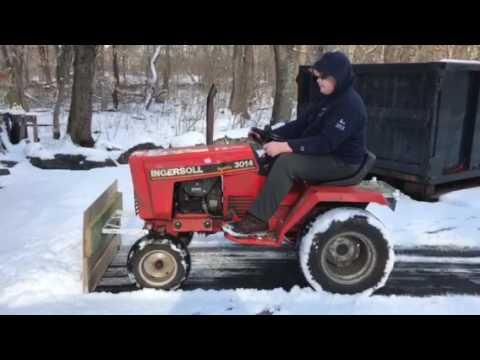 Custom wooden snow plow