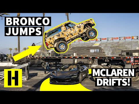 Insane Ford Bronco Jumps Over A 1000hp McLaren 720s??