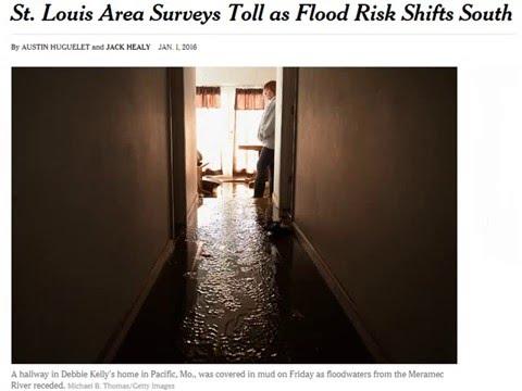 01/01/2016: St. Louis Area Surveys Toll as Flood Risk Shifts South