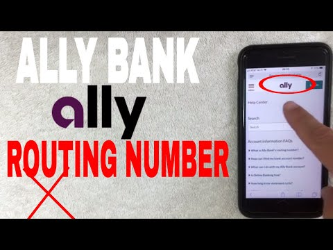 ✅  Ally Bank ABA Routing Number - Where Is It? 🔴