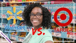 WALMART vs TARGET // ULTIMATE BACK TO SCHOOL SUPPLIES HAUL // SHOP WITH ME