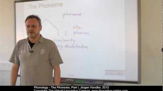 Phonology - The Phoneme I