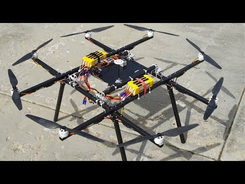 Huge OCTOCOPTER Flight Tests - RCTESTFLIGHT -