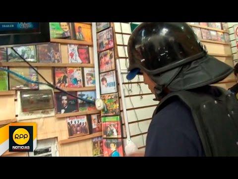 Operación contra la piratería en el Cercado de Lima│RPP