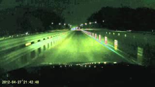 [블랙뷰/DR-380HD] 야간 고속도로 주행영상(하이…