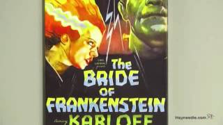 Bride of Frankenstein Vintage Horror Movie Poster Canvas Print - Product Review Video