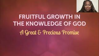 PWAM Virtual Sunday Sermon 2021_0606 GROWTH IN THE KNOWLEDGE FRUITFUL OF GOD