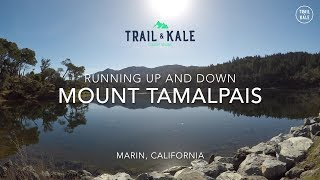 Running up and down Mount Tamalpais, Marin California - 4k