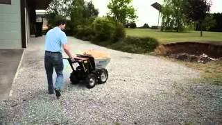 Jardin-Bricolage Video Mini dumper - Brouette PRO à moteur Honda GXV-160