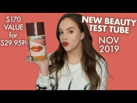 NEW BEAUTY TEST TUBE   NOV 2019   Unboxing & Honest Thoughts!