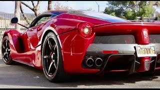 The Ferrari  LaFerrari Starts and Hard Acceleration