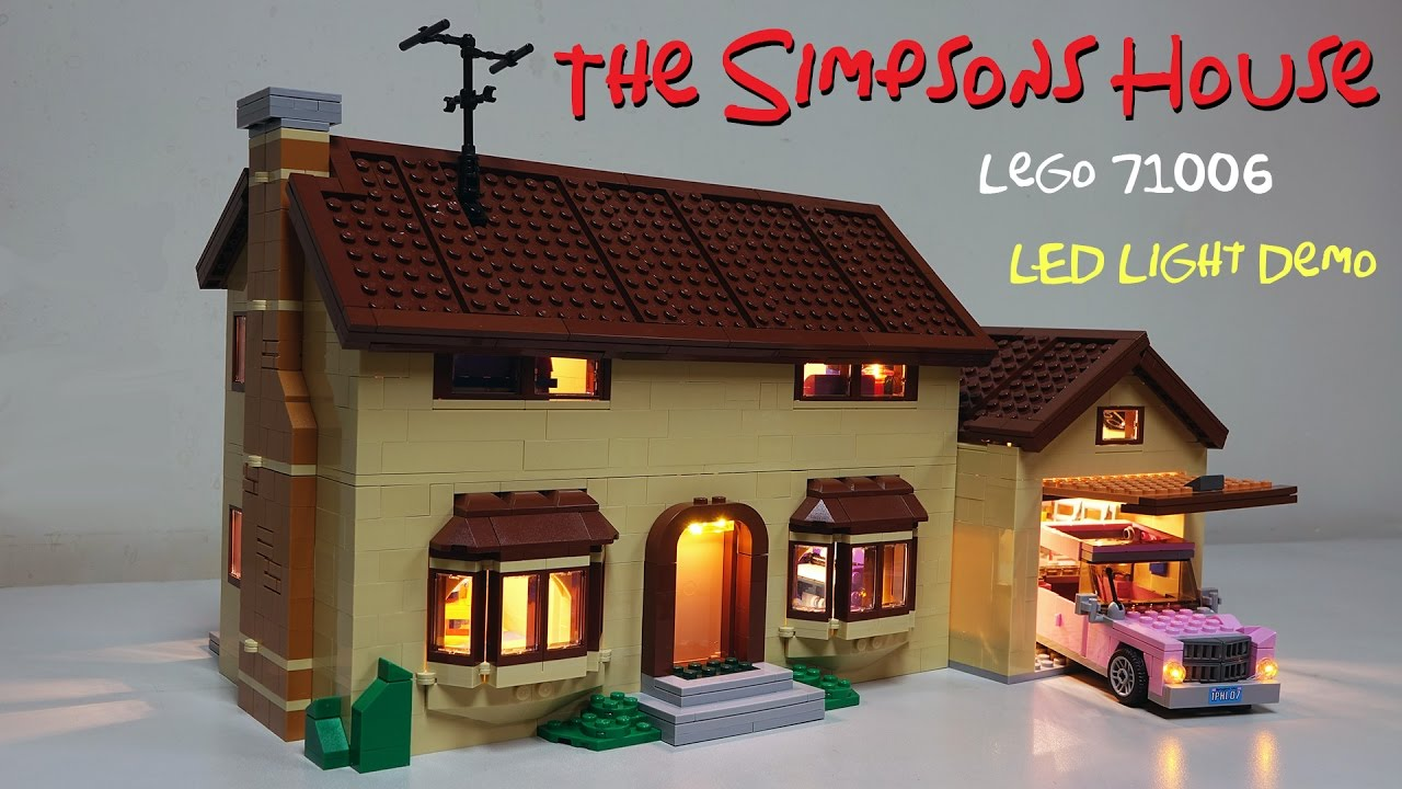 Lego 71006 the simpsons house led installed demo youtube for 742 evergreen terrace springfield