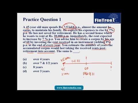 Retirement Planning Practice Problem 1 ( Of 10)