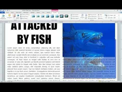 Word 2010 Newspaper Project story columns and pictures