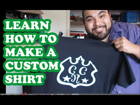 Learn how to make a custom shirt with a heat press and US MH-871 cutter and siser easyweed vinyl