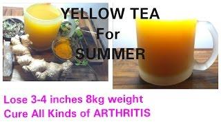 8kgs आसानी से वजन घटाये YELLOW TEA से, Turmeric Tea, Turmeric Tea for Weight loss, Dr Shalini
