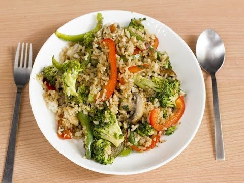 Broccoli And Pepper Rice/ Indo Chinese Dish