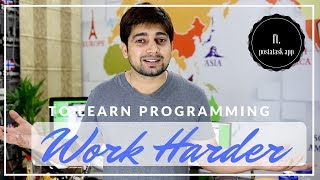 Are you working hard to learn programming - ft.  harrys app