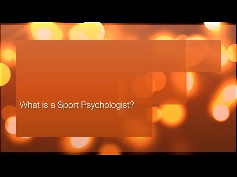 What is a Sport Psychologist? AUDIO