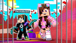 CAEMOS EN UNA PRISION! 😅 Minecraft Dulce 😋 Sandra Cires Play ft HaroldArtistPlay