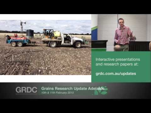 Grains Research Updates 2015   Adelaide   How did sowing early work in 2014? - J. Hunt