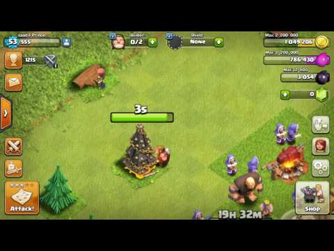 clash of clan clean Xmas tree get reword😄