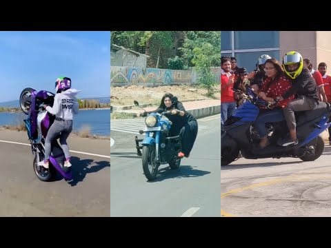 girl stunt bike rider indian #girlstunt  #romanticvideoshort