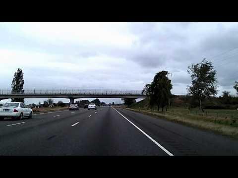 TimeLapse Drive from Portland to Salem Oregon: I-5, 99E, 22 Dashcam