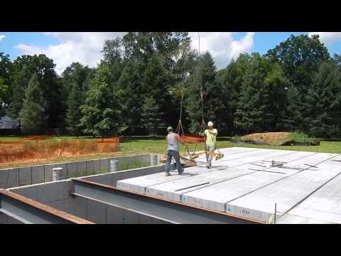 Precast HollowCore Concrete Planks Installation at Construction 2014/07/28