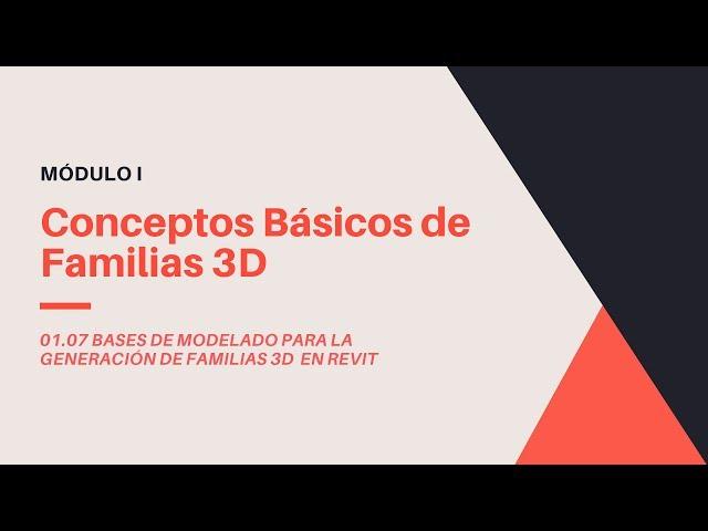 Familias en Revit 2020 | 07 01 Conceptos Basicos de Modelado 3D en Familias de Revit