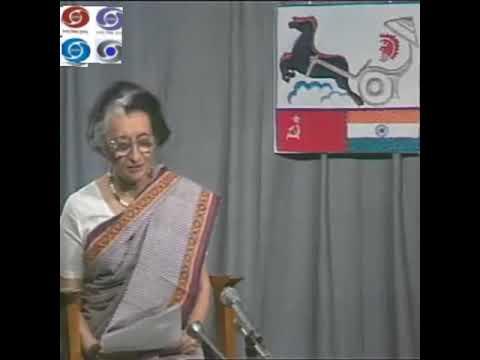 Indira Gandhi and Astronaut Rakesh Sharma Conversation From Space Station 1984 video