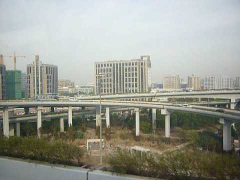 Shanghai, China traffic interchange