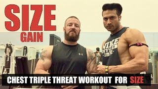 CHEST Triple Threat Workout for SIZE Gain by Guru Mann