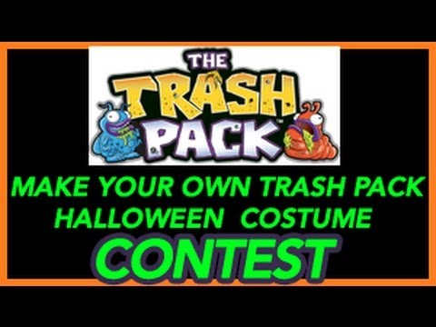 Make your own trash pack halloween costume contest youtube for Make your own halloween mask online