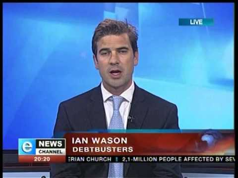 Debt counselling inquiries increase – Ian Wason, DebtBusters CEO, Live on eNews