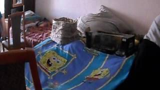 База из подушек и одеял.