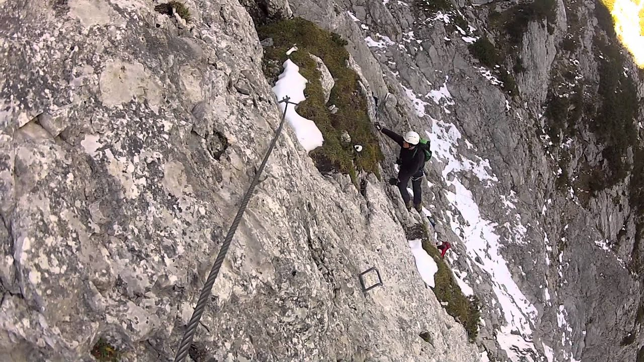 Pidinger Klettersteig : Pidinger klettersteig auf den hochstaufen youtube