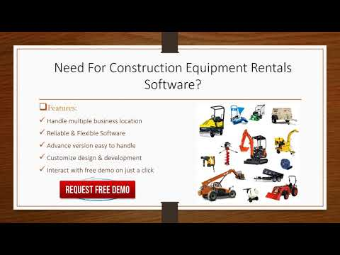 Construction Equipment Management Software