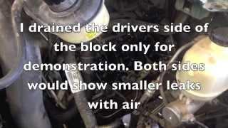 Diesel fuel in the cooling system. Bulletproof crack repair kit for the 6.0