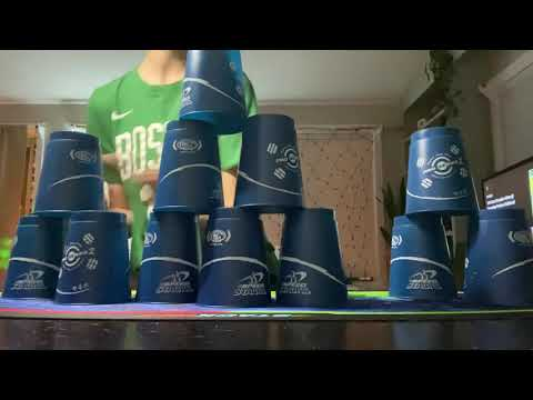Gavin's Cycle Record, 18.92, His Second Day Cup Stacking