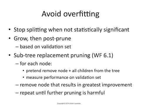 IAML7.8 Decision Tree Pruning