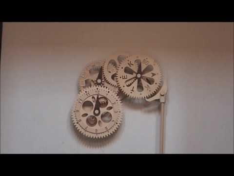 手作り木製時計 My first Wooden Gear Clock