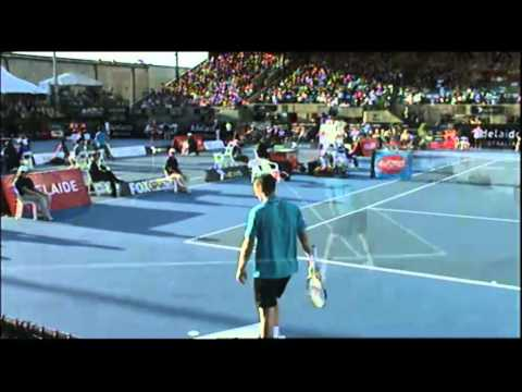 Michael Llodra V Tommy Haas   World Tennis Challenge Adelaide 2012