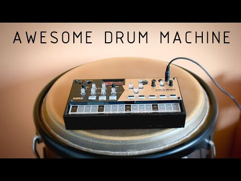 VOLCA DRUM - 4 tracks - all sound comes from this machine - lofi hip hop vibes - harmony + melody