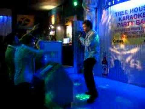 Doyle and Fussey Singing Karaoke