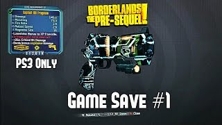 borderlands the pre sequel legendary game save 1 ps3 only