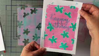 How to Gelli Arts® Gel Print with DIY Layered Stencils