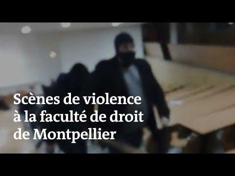 Des étudiants grévistes agressés par des hommes encagoulés, à Montpellier