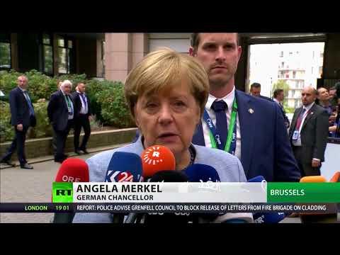 EU leaders inc Merkel call on May to break Brexit