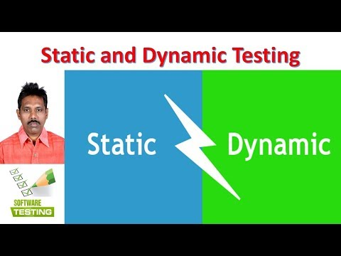 Static and Dynamic Testing|Software Testing|G C Reddy|